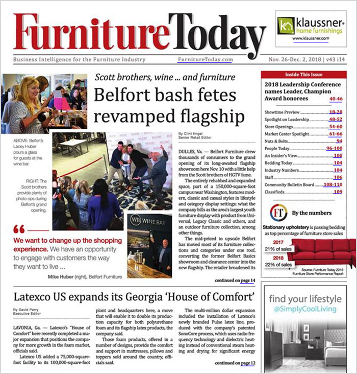 Furniture Today cover